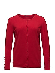 Decorative buttons cardigan - RED