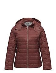 Detachable hood quilted coat - MEDIUM ORANGE