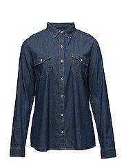Chest-pocket denim shirt - OPEN BLUE