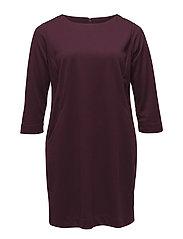Textured flowy dress - DARK RED