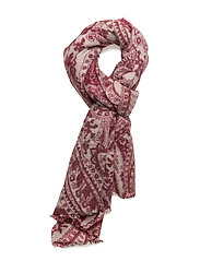 Printed pattern scarf - RED