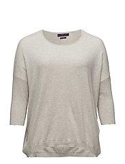 Cotton cashmere-blend sweater - LT PASTEL GREY