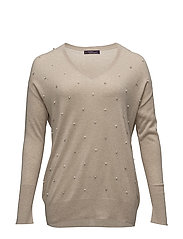 Decorative appliqu sweater - LT PASTEL GREY