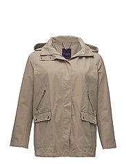 Detachable hood trench coat - LIGHT BEIGE