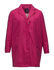 Lapels structured coat - BRIGHT PINK
