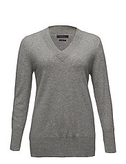 100% cashmere sweater - MEDIUM GREY