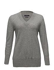 100% cashmere sweater - MEDIUM GREY