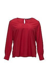 V-neck blouse - DARK RED