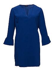 Ruffled sleeve dress - BRIGHT BLUE