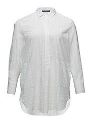 Textured cotton blouse - WHITE