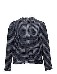 Pocket tweed jacket - MEDIUM BLUE