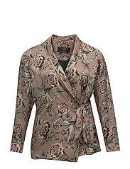 Floral print blazer - LT-PASTEL PINK
