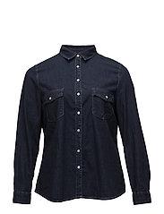 Violeta by Mango - Dark Denim Shirt