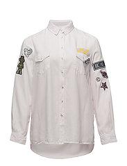 Decorative patches shirt - PINK