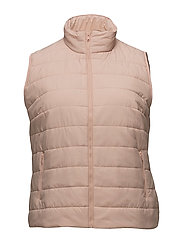 Quilted gilet - LT-PASTEL PINK