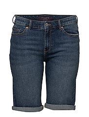 Medium denim bermuda shorts - OPEN BLUE