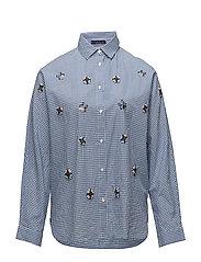 Appliqus check shirt - MEDIUM BLUE