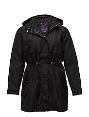Hooded trench - BLACK