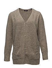 Flecked wool-blend cardigan - MEDIUM BROWN