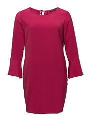 Flared sleeves dress - BRIGHT PINK