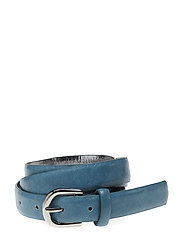 Appliqu skinny belt - MEDIUM BLUE