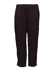 Printed baggy trousers - BLACK
