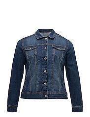 Dark denim jacket - OPEN BLUE