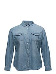 Violeta by Mango - Medium Denim Shirt