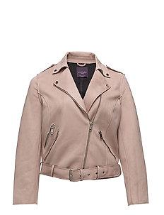 Faux suede biker jacket - PINK