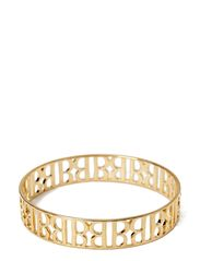 Bangle, gold plated metal - gold