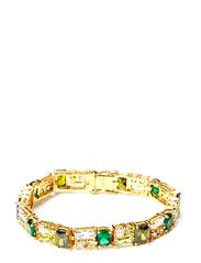 Bracelet with colored stones - gold