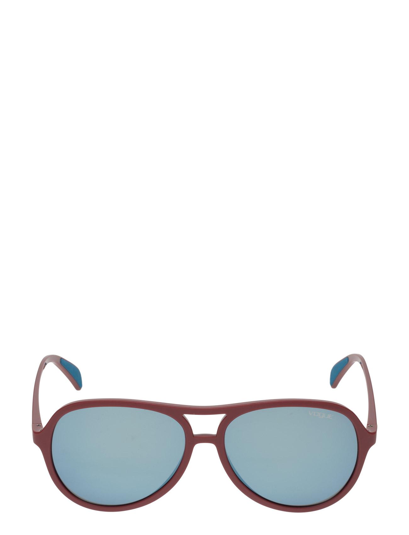 Aviator Vogue Eyewear Solbriller til Damer i Rød