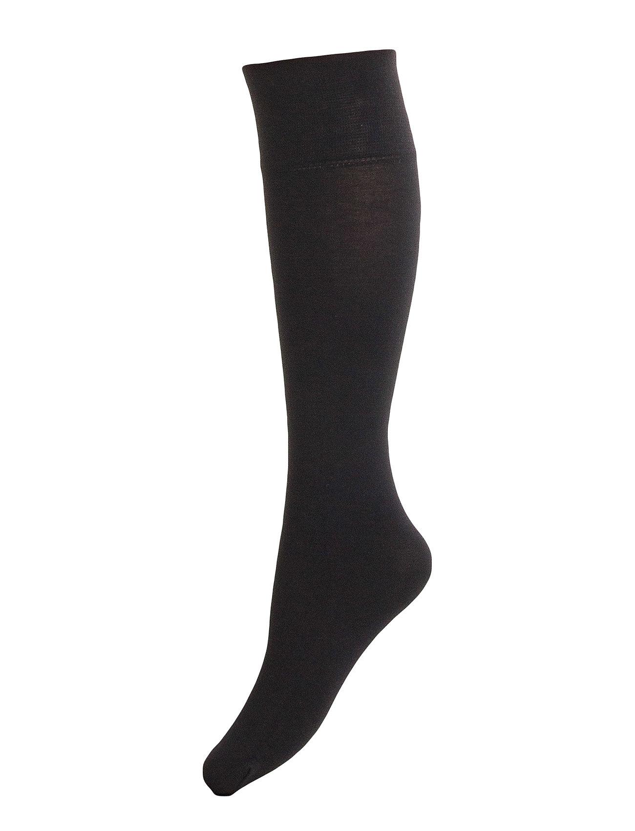 Ladies Knee High, Silky Cotton Knee Vogue Strømpebukser til Damer i Sort