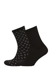 Ladies anklesock, Cascabel Socks, 2-pack - BLACK