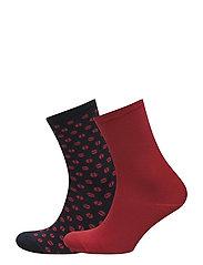 Ladies anklesock, Cascabel Socks, 2-pack - MARINE