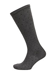 Ladies knee high, Dot Support - CHARCOAL