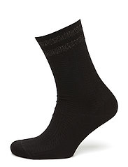 Ladies anklesock, Grace Cable Sock - BLACK