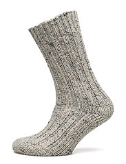 Ladies anklesock, Tweed Rib Sock - OFF-WHITE
