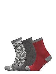 Ladies anklesock, Polar 3-pack Socks - MULTICOLOR