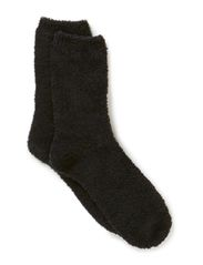 Ladies anklesock, Chenille Socks - black