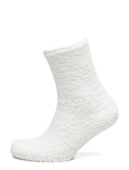 Ladies anklesock, Chenille Socks - off-white