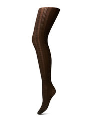 Ladies pantyhose, Wool Aran Cable - truffle