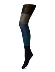 Ladies pantyhose, Colore Cotton Blocks - black iris