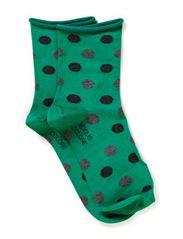 Ladies anklesock, Spots - jade