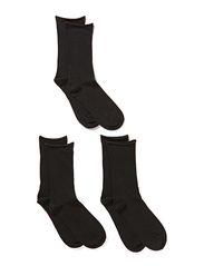 Ladies anklesock, Vogue Cotton Elegant Sock 3-pack - black