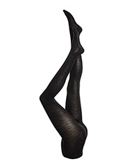 Ladies pantyhose, Wool 3D - BLACK