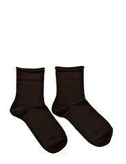 Ladies anklesock, Cotton Comfort Socks - Black