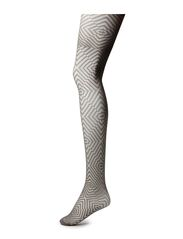 Ladies den pantyhose, Broken Argyle 30den - steel gray