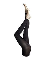 Ladies Opaque Leggings 3D 80 den - BLACK