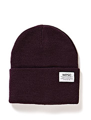 Puncho knitted beanie plum perfect - plum perfect